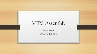 MIPS Assembly