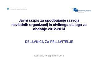 Ljubljana, 10. september 2012