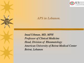 APS in Lebanon.