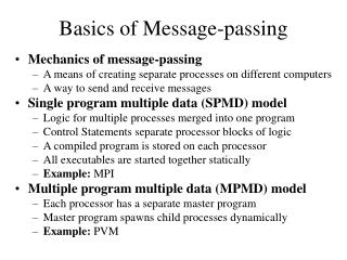 Basics of Message-passing