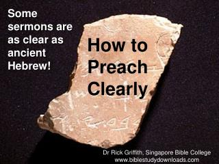 How to Preach Clearly