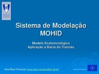 Sistema de Modelação MOHID Modelo Ecotoxicológico Aplicação à Bacia do Trancão