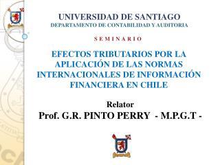 UNIVERSIDAD DE SANTIAGO DEPARTAMENTO DE CONTABILIDAD Y AUDITORIA