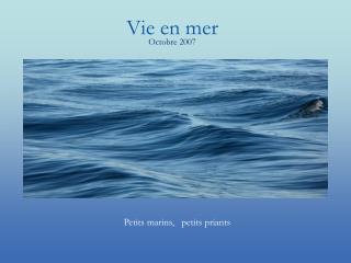 Vie en mer