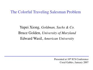 The Colorful Traveling Salesman Problem