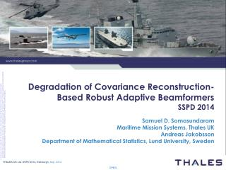 Degradation of Covariance Reconstruction-Based Robust Adaptive Beamformers SSPD 2014