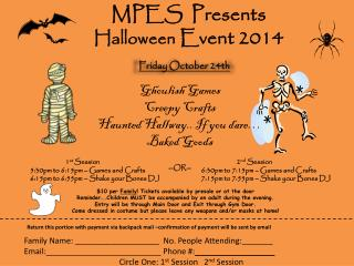 MPES  Presents Halloween  Event 2014