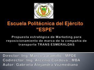 Escuela Polit�cnica del Ej�rcito �ESPE�