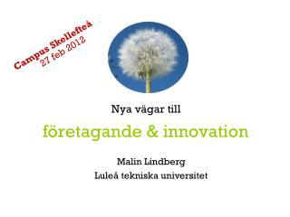 företagande & innovation