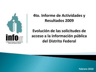 4to. Informe de Actividades y Resultados 2009