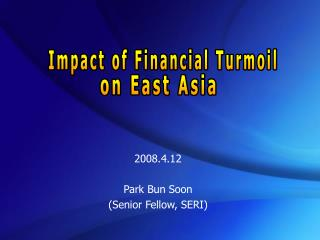 2008.4.12 Park Bun Soon (Senior Fellow, SERI)