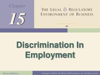 Discrimination In Employment