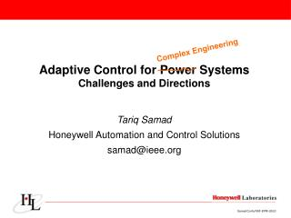 Adaptive Control for Power Systems Challenges and Directions
