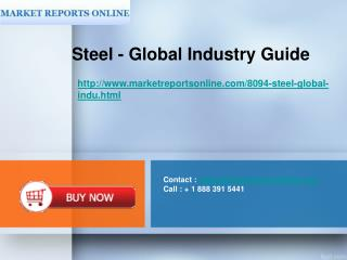Contact :  sales@marketreportsonline Call : + 1 888 391 5441