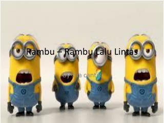 Rambu – Rambu Lalu Lintas