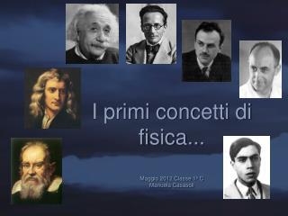 I primi concetti di fisica... Maggio 2012 Classe 1 a  C Manuela Casasoli