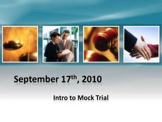 September 17 th , 2010