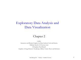 Exploratory Data Analysis and Data Visualization