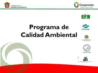 Programa de  Calidad Ambiental