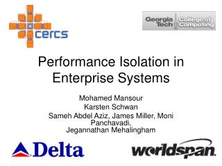 Performance Isolation in Enterprise Systems