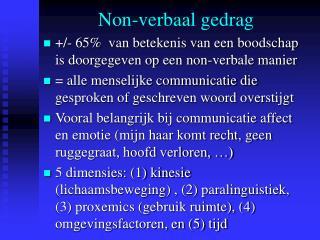 Non-verbaal gedrag