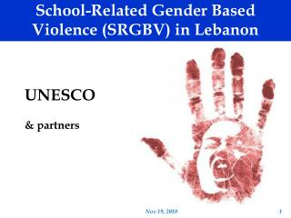 School-Related Gender Based Violence (SRGBV) in Lebanon