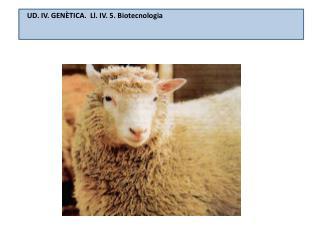 UD. IV. GENÈTICA.  Ll. IV. 5.  Biotecnologia