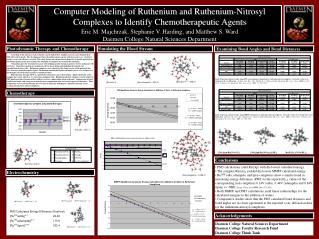 Computer Modeling of Ruthenium and Ruthenium-Nitrosyl Complexes to Identify Chemotherapeutic Agents   Eric M. Majchrzak,