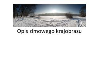 Opis zimowego krajobrazu
