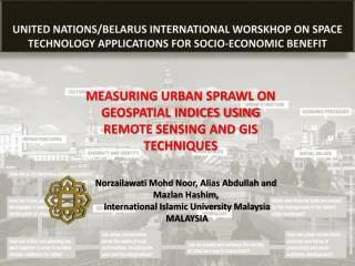 MEASURING  URBAN SPRAWL ON GEOSPATIAL INDICES USING REMOTE SENSING AND GIS TECHNIQUES