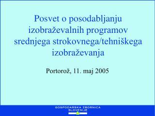 Posvet o posodabljanju izobraževalnih programov srednjega strokovnega/tehniškega izobraževanja