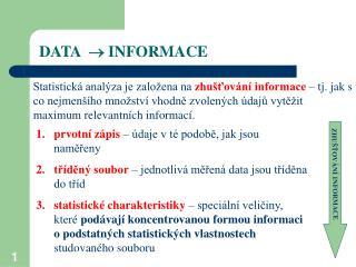 DATA   INFORMACE