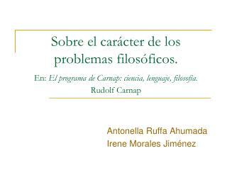 Antonella Ruffa Ahumada Irene Morales Jiménez