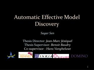Automatic Effective Model Discovery