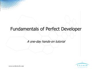 Fundamentals of Perfect Developer