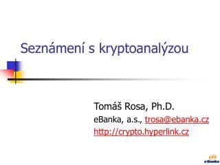 Seznámení s kryptoanalýzou