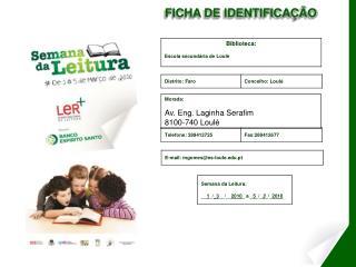 FICHA DE IDENTIFICA��O