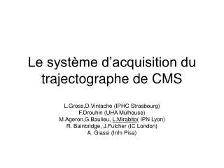Le système d'acquisition du trajectographe de CMS