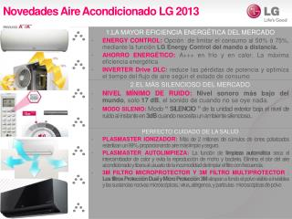 Novedades Aire Acondicionado LG 2013