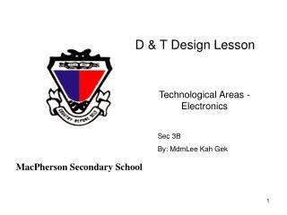 D & T Design Lesson