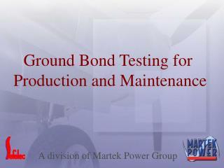 A division of Martek Power Group