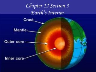 Chapter 12 Section 3 Earth's Interior