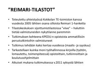 �REIMARI-TILASTOT�