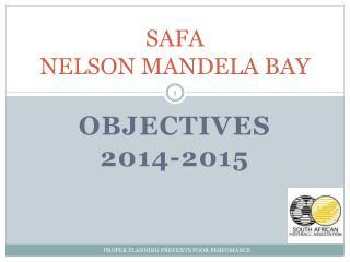 SAFA  NELSON MANDELA BAY