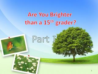 Are You Brighter  than a 15 th  grader?