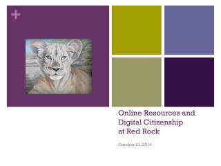 Online Resources and  Digital Citizenship at Red Rock