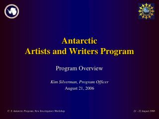 Antarctic  Artists and Writers Program