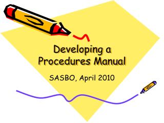 Developing a Procedures Manual