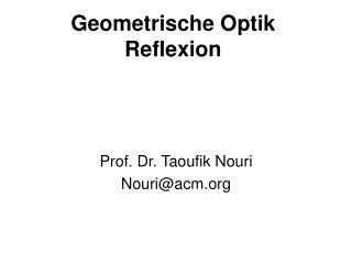 Geometrische Optik Reflexion