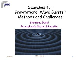 Searches for Gravitational Wave Bursts :  Methods and Challenges